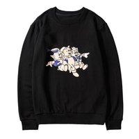 schwarze hoodie-marke großhandel-100% baumwolle Designer Sweatshirts Langarm T Shirts Für Männer schwarz Hoodie mode Marke Top Hoodies Herbst Frühling luxus kleidung Pullover