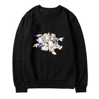 ropa de navidad japonesa al por mayor-100% algodón Sudaderas de diseño Camisetas de manga larga para hombres Con capucha negra marca de moda Top Hoodies Otoño Primavera ropa de lujo Suéter
