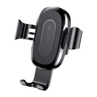 iphone kabelstifte großhandel-Neue ankunft auto mount qi wireless ladegerät für iphone x 8 plus schnellladung schnelles drahtloses lade pad auto halterung stehen für huawei