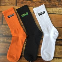 ingrosso calzini da golf di mens-GOLF Mens Designer Calze Classic Basic Striped Chunky Knit Solid Color Traspirante Skateboarding Calze Moda Mens Designer Calze