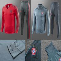 Wholesale tracksuits jacket for sale - Bayern Munich soccer jacket tracksuit Survetement VIDAL LEWANDOWSKI MULLER ROBBEN JAMES full jacket Training suit