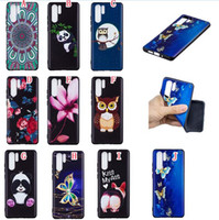 Wholesale owl skins online – custom Cartoon OWL Flower Soft TPU Case For Huawei P30 PRO Honor LITE Samsung Galaxy S10E S10 PLUS Panda Butterfly Kiss My Ass Skin Cover Luxury