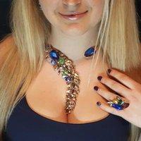 çok renkli kolye toptan satış-Best Lady Bohemian Lüks Kristal Boncuk Manşet Yaka Gerdanlık Kolye Kadınlar Renkli Düğün Maxi Bildirimi Takı 3735 GMX190709