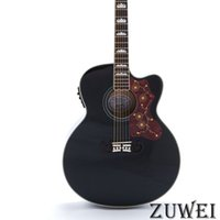 Wholesale hollow body electric guitars sale resale online - Hot Sales Starshine LYL0239YY Electric Acoustic Guitar Fishman EQ Top Grover Tuner Black Color Spruce Body