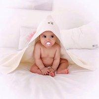 bebé con capucha toallas de baño de animales al por mayor-Toalla de baño con capucha para niños Albornoz para bebés Toalla de animales lindos Manta de dibujos animados para bebés Manta Albornoz con capucha para niños Toalla de baño para bebés
