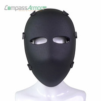 Wholesale army full face mask resale online - Army Ballistic Full Face Mask Tactical Combat Mask Hunting Protective Mask Ballistic Face Cover NIJ level IIIA A