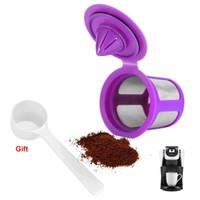 keuriger kaffee großhandel-Filter Kapseln Tasse für K Tasse Nachfüllbare Kaffeefilter Edelstahlgewebe für Keurig 2.0 Kaffeemaschinenzubehör
