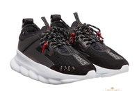 sapatos de corrida para mulheres venda por atacado-Barato Melhor Running Shoes Reação Em Cadeia Casual Sapatos de Grife Mens Womens Top Quality Moda Distrito Medusa Link-Relevo Único Formador