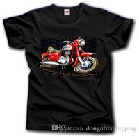 Wholesale germany t shirts for sale – custom JAWA MOTORCYCLE T SHIRT S XXL CZECH DDR GERMANY MOTORRAD VINTAGE OST Simple Short Sleeved Cotton T Shirt Top Tee
