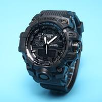 освещенные часы оптовых-Новый цвет G110 мужчины роскошные спортивные часы светодиодные часы авто свет шокирован G стиль наручные часы мода женщины платье часы оригинальный Box