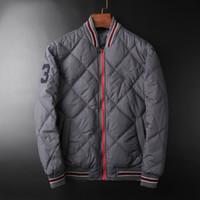 casacos do inverno do inverno dos homens venda por atacado-Mens Marca MA1 Desinger Bomb Jackets Número 3 Impresso Listrado Casaco de Inverno Masculino Parka Blusão Outerwear
