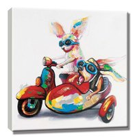 Wholesale oil painting for wall decoration resale online - Hand Painted Customized Oil Painting Picture Art Paints Wall Decoration for Home Office Living Animal Paintings