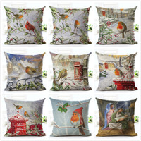 Wholesale cushion cover bird tree for sale - Group buy New Year Christmas Decor For Home Adornos De Navidad Home Decoration Accessories Natal Snow Christmas New Bird Cushion Cover