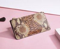python çanta toptan satış-Kadınlar Torebki damskie Bolso Poşet İçin Gerçek inek derisi Gerçek Deri Turuncu El Çantası Yılan Python Desen Çanta Fermuar Çanta