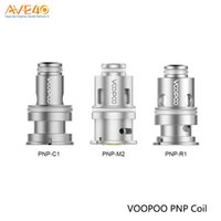 Wholesale 5pcs pack baby resale online - VOOPOO PNP Coil PnP M2 ohm PnP C1 ohm PnP R1 ohm for Drag Baby Trio Kit pack Original