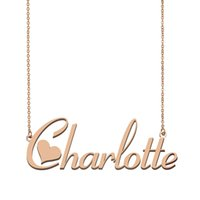 Wholesale charlotte gold for sale - Group buy Charlotte Name Necklace Pendant for Women Girls Birthday Gift Custom Nameplate Kids Best Friends Jewelry k Gold Plated Stainless Steel