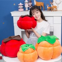 Wholesale persimmon fruit for sale - Group buy simulation fruit pillow plush toy persimmon pillow children doll toy car cushion studio shooting props cm DY50697