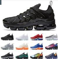Wholesale pure flooring resale online - Designer Tn Plus Running Shoes Women Mens Sneakers PURE PLATINUM triple black white cool wolf grey Chaussures tns Schuhe Trainers