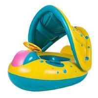 bebek tekne oyuncakları toptan satış-Bebek Çocuk Kuğu Yüzmek Şamandıra Yüzme Havuzu Yüzme Halka Su Eğlence Havuzu Oyuncaklar Yüzmek Halka Koltuk Tekne Spor araçları QQA428