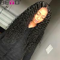 perruques indiennes de cheveux pleins de dentelle achat en gros de-Perruque de vague d'eau crue vierge de cheveux indiens 360 Full Lace perruques de cheveux humains pour femme noire sans colle Full Lace perruques Remy Beyo