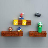 Wholesale games stickers for sale - Group buy Super Mario DIY Fridge Refrigerator Magnet FC Childhood Game Japan Cartoon Gaming Cartoon D Ice Box Paster Icebox Sticker