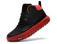 zapatillas deportivas al por mayor-Diseñador de moda de lujo femenino masculino casual antideslizante zapatos deportivos gruesos high-top transpirable al aire libre senderismo zapatillas de deporte de fitness a17