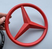 auto chrom zubehör großhandel-ABS Chrom Auto Front Logo Emblem Abzeichen Aufkleber für Mercedes Benz Auto Auto Aufkleber Auto Styling Zubehör