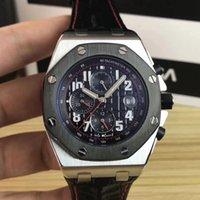 movimiento de cuarzo reloj batería al por mayor-Reloj de lujo de 6 estilos 44mm 25940 royal oak offshore Batería de cuarzo VK movimiento cronógrafo relojes Correa de goma relojes para hombre reloj de pulsera reloj