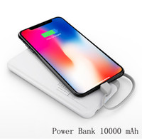 capa carregadores portátil iphone venda por atacado-Yoobao 10000 mah builtin destacável banco de potência do cabo fino carregador portátil de telefone móvel powerbank batterie externe iphone tampa da caixa de carregamento