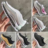 zapatos de niño juvenil talla 12 al por mayor-Nike air max 97 Clásico Infant Runners Niños Zapatillas de deporte de calidad superior Boy Girls Designer Sneakers Toddler Youth Trainers Tamaño 28-35
