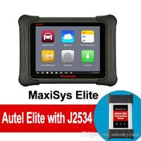 automotive programmierer werkzeuge großhandel-Autel MaxiSYS Elite Automobildiagnosewerkzeug mit J2534 ECU Kodierung Programmierunterstützung Wifi / Bluetooth OBD2 Diagnosescanner-freies Update