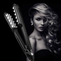 alisador de cabelo moda venda por atacado-Nova Moda Cabelo Volumizing Ferro Liso Ferro Lcd Display Straightener Alisador de Cabelo Adequado para Ferramentas de Estilo de Cabelo Curto Epacket