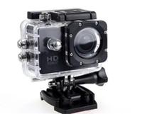 жк-экран для камеры шлема оптовых-Самая дешевая копия для SJ4000 A9 стиль 2-дюймовый ЖК-экран мини Спортивная камера 1080P Full HD Экшн-камера 30M Водонепроницаемые видеокамеры Шлем спорт DV