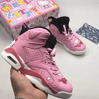 boys çizgi film ayakkabıları toptan satış-Toddler kız erkek 6 s Karikatür ayakkabı gençlik erkek çocuklar eğitmenler basketbol ayakkabı 6 s Chaussures De spor sneakers Enfant boyutu 28-35