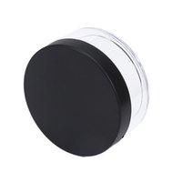 tarro de tapa negra al por mayor-Portable plástica vacía suelta Crisol Con Tamiz maquillaje cosmético tarro de contenedores de mano portátil con Tamiz Cap Negro 50g