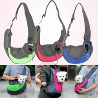 Wholesale puppy carrier tote resale online - Pet Puppy Carrier Bag Knapsack Outdoor Travel Bag Oxford Shoulder Single Sling Mesh Comfort Travel Shoulder Tote