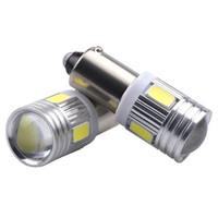 h6w led ampul toptan satış-50 Adet BA9S 6 SMD 5630 LED Canbus lambaları Hata Ücretsiz t4w h6w Araba LED ampuller İç Işıklar Araba Işık Kaynağı park 12 V Beyaz 6000 K