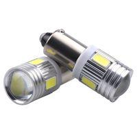 красная лампочка t4w оптовых-Ba9s 6 SMD 5630 светодиодные лампы Canbus ошибка бесплатно t4w h6w автомобильные светодиодные лампы интерьер огни автомобиля источник света парковка 12 в Белый 6000K
