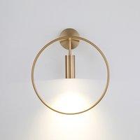lámpara de pasillo al por mayor-Nordic sencilla lámpara de pared redonda apliques personalidad creativa restaurante cabecera del dormitorio de la lámpara del pasillo pared del balcón para el hogar