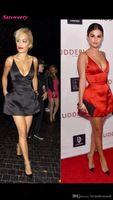 turuncu kırmızı halı elbiseleri toptan satış-2019 Seksi V Boyun Spagetti Kayışı Turuncu Saten Bir Çizgi Mini Kısa Ünlü Elbise Selena Gomez Oscar Kırmızı Halı Elbiseleri Akşam Balo Elbisesi