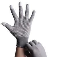 Wholesale fingerless bike gloves resale online - Sun Protection Summer Thin Short Outdoor Mountaineering Gloves Breathable Driving Bikes Men Women Touch Screen Gloves