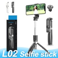Wholesale smartphone shutter for sale - Group buy L02 Selfie Stick Monopod Bluetooth Tripod Foldable with Wireless Remote Shutter for Smartphone with Retail Box