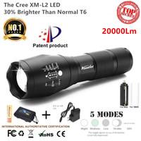 hochleistungs-akku led-taschenlampen großhandel-G700 / E17 Cree 20000LM X800 SHADOWHAWK L2 Hochleistungs-LED-Zoom Taktische LED-Taschenlampe Laterne Reiseleuchte 18650 Wiederaufladbar