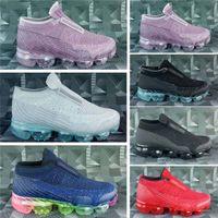 sapatilhas de huaraches de ar venda por atacado-NIKE AIR VAPORMAX shoes 2019 de alta qualidade para crianças athletic shoes crianças meninos tênis de basquete criança huarache lenda blue designer sneakers