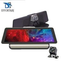 автомобильный удаленный dvr оптовых-EffortBJ 4G автомобильный видеорегистратор 10-дюймовый 1080P камера Android 5.1 GPS навигация ADAS двойной объектив удаленного монитора ночного видения тире кулачок