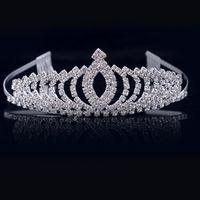 diamond reines haar großhandel-Kinder Kronen, Diamanthaarzusätze, Performance Reifen, Bräute Hochzeit Kopfbedeckungen, reine Haarreifen.