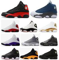 basketbol ayakkabıları melo toptan satış-Yüksek Kalite 13 Bred Chicago Flint Atmosfer Atmosfer Gri Erkekler Kadınlar Basketbol Ayakkabıları 13 s Oyunu Ile Oyun Melo DMP Hiper Kraliyet Sneakers
