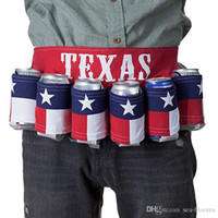Texas State Flag 6 Can Beer Belt Holster NEW