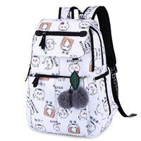 Wholesale cartoon clear backpacks resale online - 2019 New Women Emoji Shoulder Bag Best Travel Women Backpack Female Printing Waterproof School Knapsack Mochila Bagpack PackMX190822