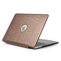 macbook artıları toptan satış-MacBook Air Pro Retina 11 12 13 tam Koruyucu kılıf için Vaka 2018 Yeni Macbook Air Pro 11.6 12 13.3 Yüksek kaliteli PU Deri Laptop Kılıfları